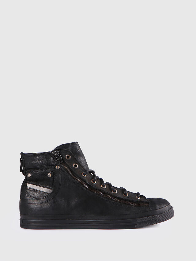 Diesel - EXPO-ZIP, Black Leather - Sneakers - Image 1