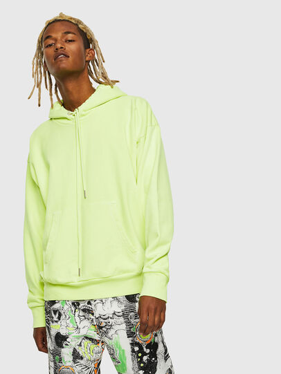 Diesel - S-ALBY-FLUO, Yellow Fluo - Sweaters - Image 1
