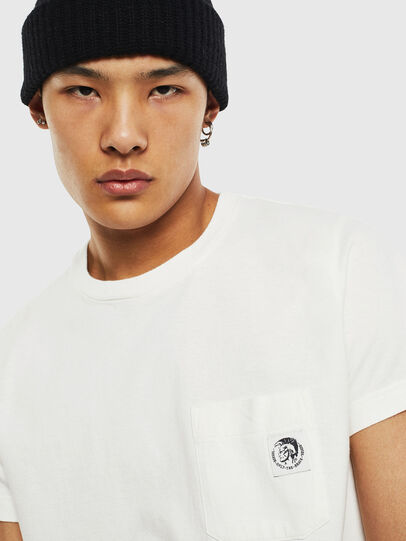 Diesel - T-WORKY-MOHI-S1, White - T-Shirts - Image 3