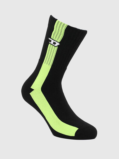 Diesel - SKM-RAY, Black/Yellow - Socks - Image 1