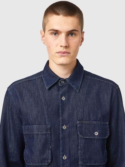 Diesel - D-WORKY-SP, Blue - Denim Shirts - Image 3