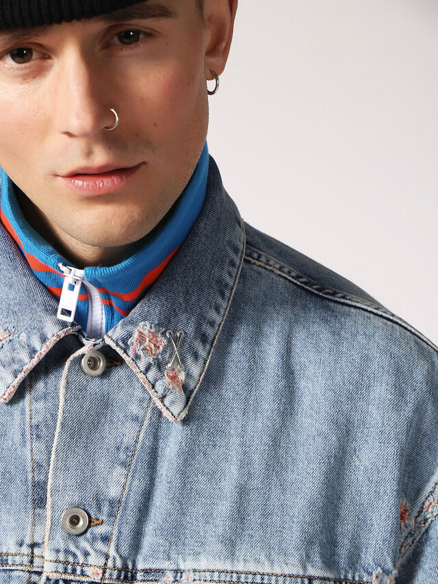 Diesel - D-WANO, Light Blue - Denim Jackets - Image 3