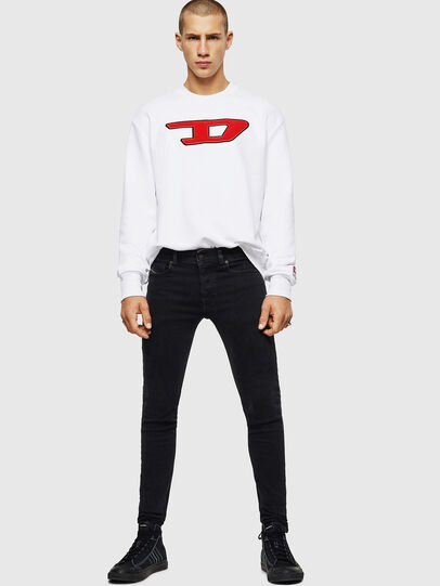 Diesel - S-CREW-DIVISION-D, White - Sweaters - Image 5