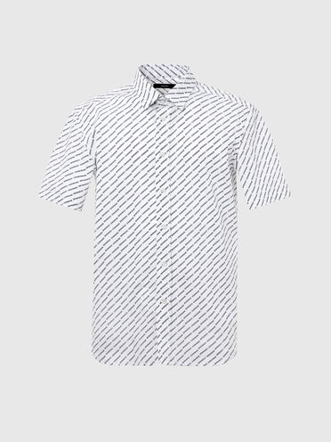 Poplin shirt with logo print