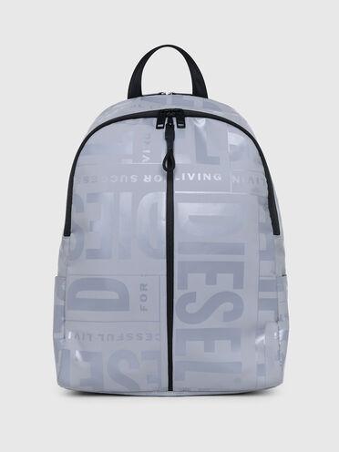 Double-zip backpack with tonal logo