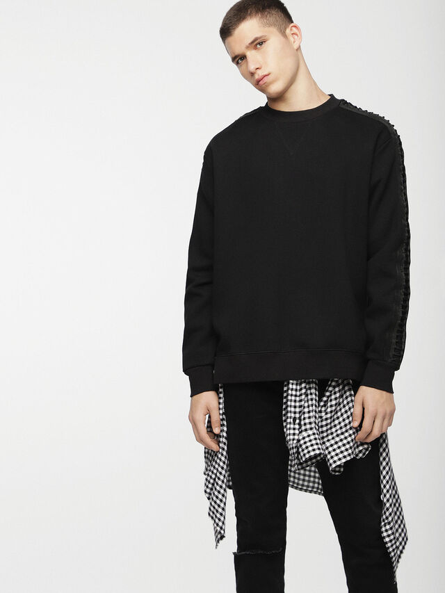 Diesel - S-MARTY, Black - Sweaters - Image 1