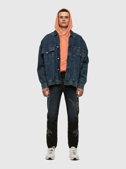 Diesel - D-RAF-SP JOGGJEANS, Dark Blue - Denim Jackets - Image 5