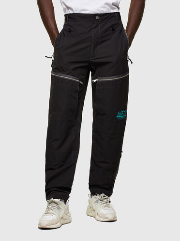 Green Label multi-pocket pants