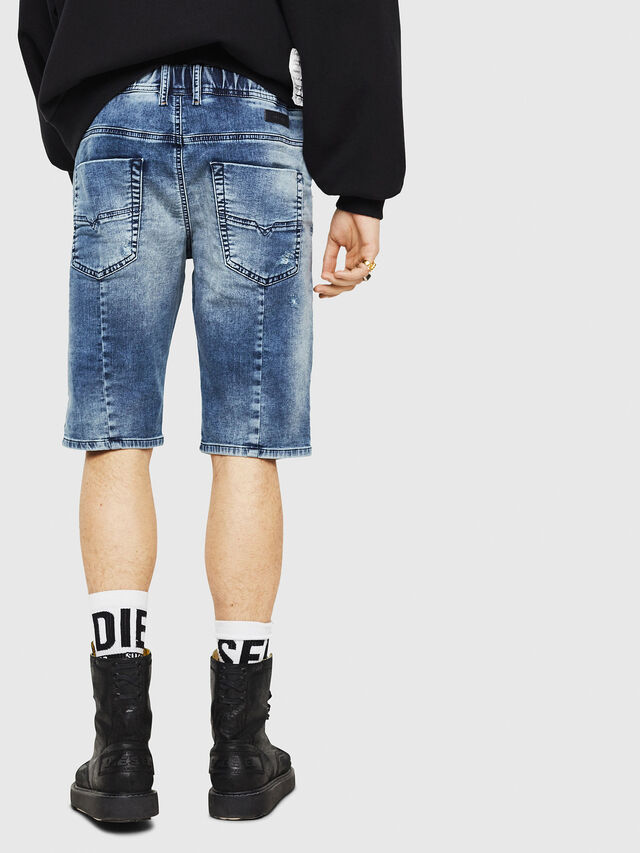 Diesel - D-KROOSHORT JOGGJEANS, Blue Jeans - Shorts - Image 2
