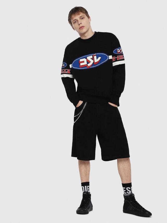 Diesel - D-BRON, Black - Shorts - Image 4