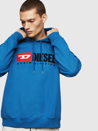 Diesel - S-DIVISION, Blue - Sweaters - Image 1