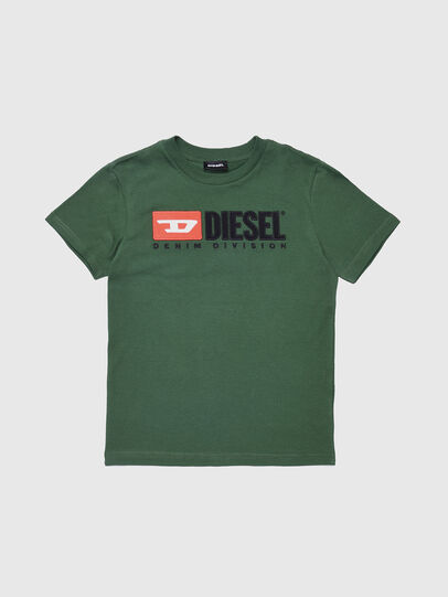 Diesel - TJUSTDIVISION, Bottle Green - T-shirts and Tops - Image 1