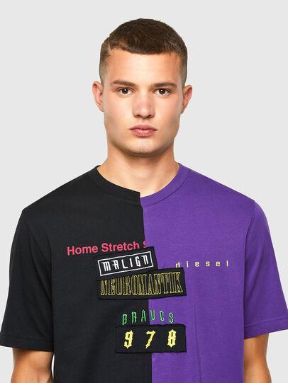 Diesel - T-JUBBLE-N1, Black/Blue - T-Shirts - Image 4