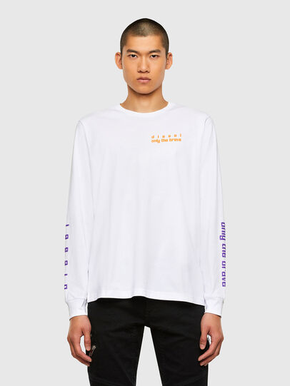 Diesel - T-JUST-LS-N64, White - T-Shirts - Image 1