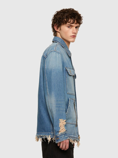 Diesel - D-SERLE, Medium blue - Denim Jackets - Image 3