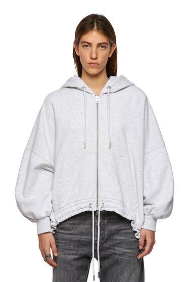Poncho-style zip-up hoodie