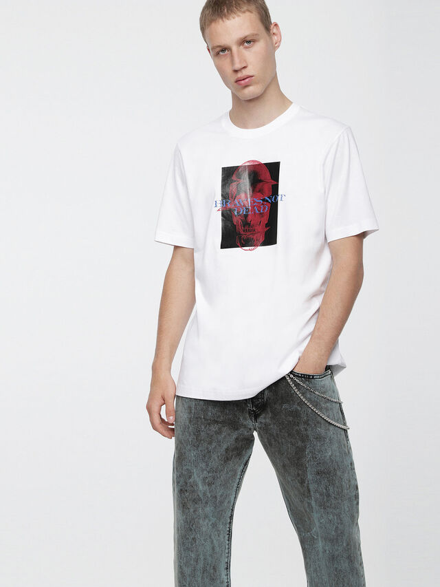 Diesel - T-JUST-XV, White - T-Shirts - Image 1