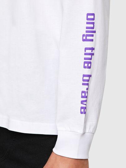 Diesel - T-JUST-LS-N64, White - T-Shirts - Image 5