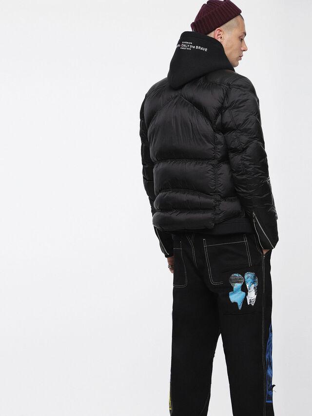 Diesel - L-WINTER, Black - Leather jackets - Image 2