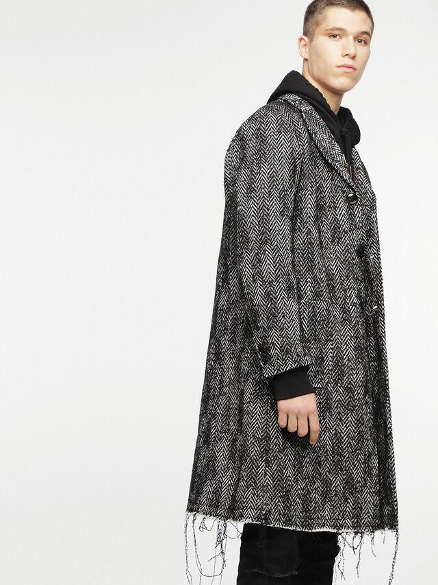 Diesel - W-DEXT, Black Melange - Winter Jackets - Image 3