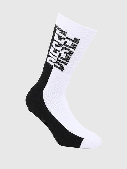 Diesel - SKM-RAY, White/Black - Socks - Image 1
