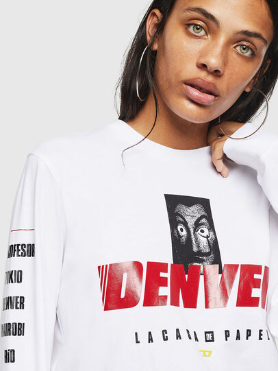 Diesel - LCP-T-JUST-LS-DENVER, White - T-Shirts - Image 5