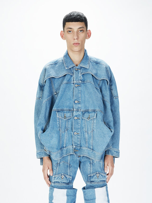 Diesel - SOJK01, Light Blue - Jackets - Image 3