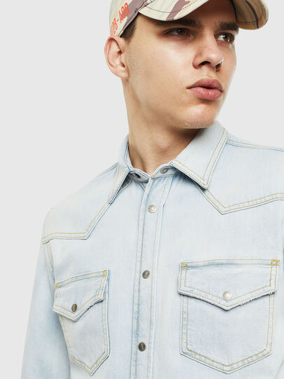 Diesel - D-EAST-P, Light Blue - Denim Shirts - Image 4