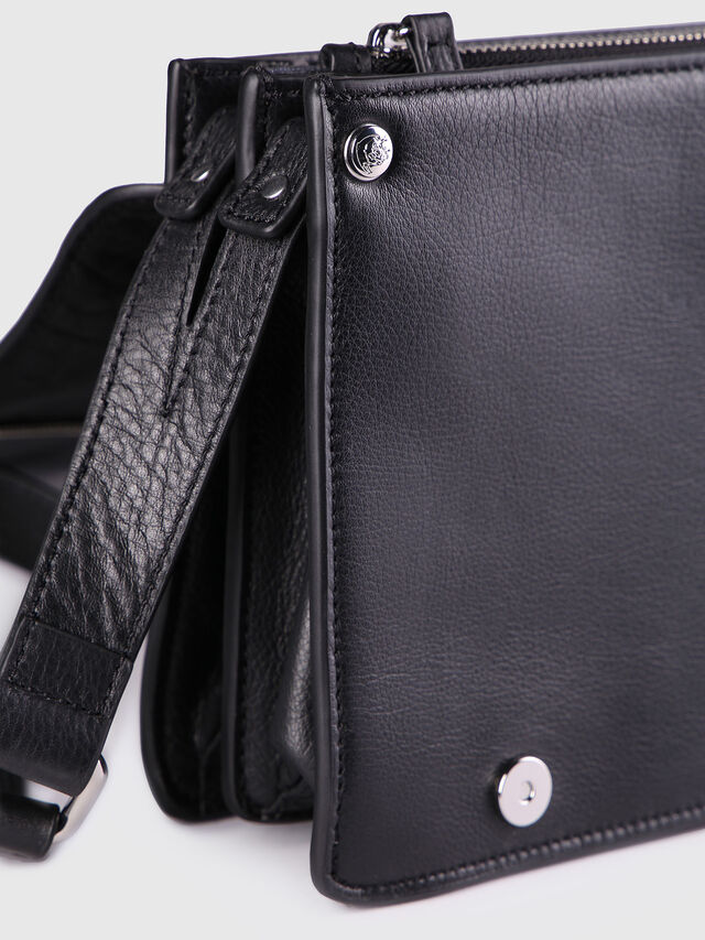 Diesel LE-MISHA, Black Leather - Crossbody Bags - Image 3