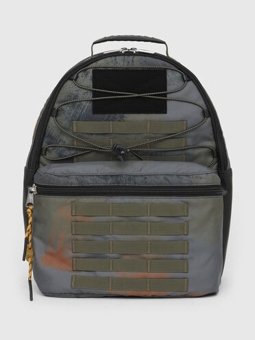 Backpack with military details