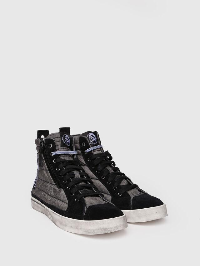 Diesel - D-VELOWS MID PATCH, Gray/Black - Sneakers - Image 3