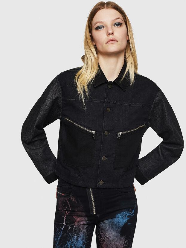 D-FLOC JOGGJEANS, Black/Dark grey - Denim Jackets