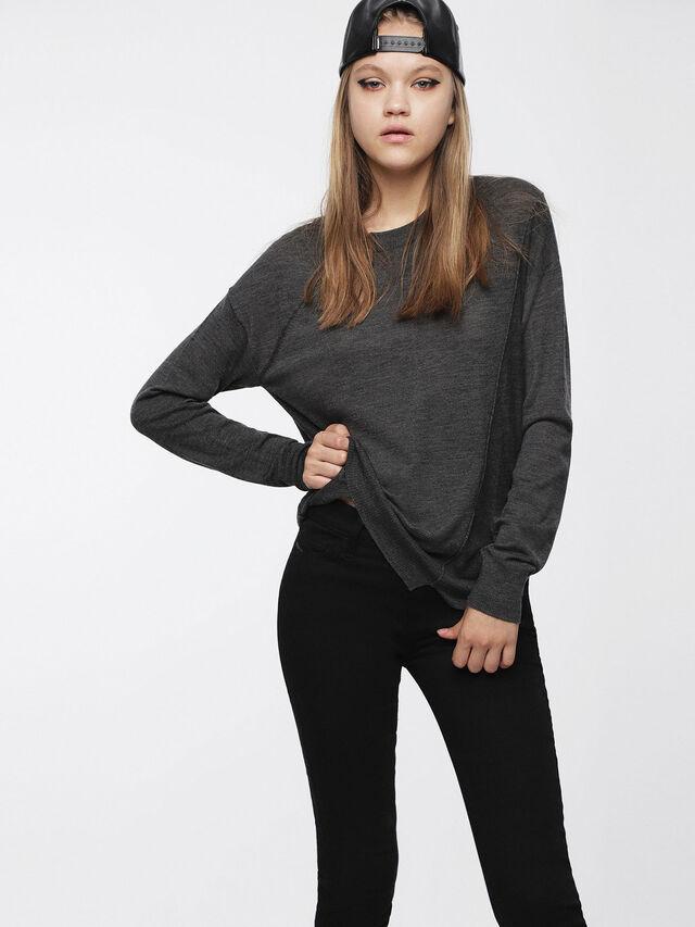 Diesel - M-AGG, Dark grey - Knitwear - Image 1