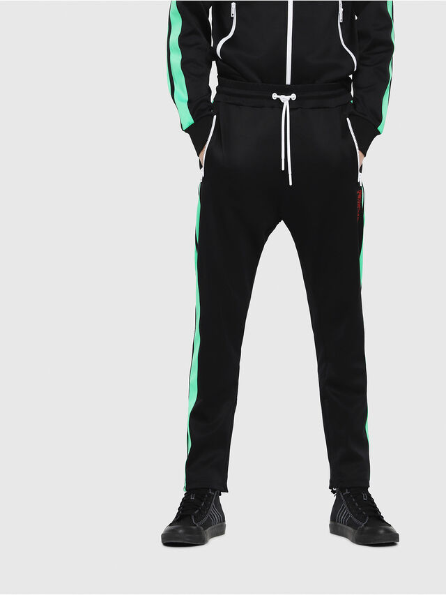 Diesel - P-RUSSY-BAND, Black/Green - Pants - Image 1