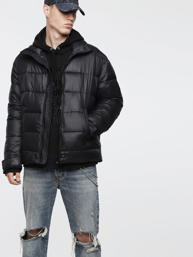 Diesel - W-SMITH-A-WH, Black - Winter Jackets - Image 1