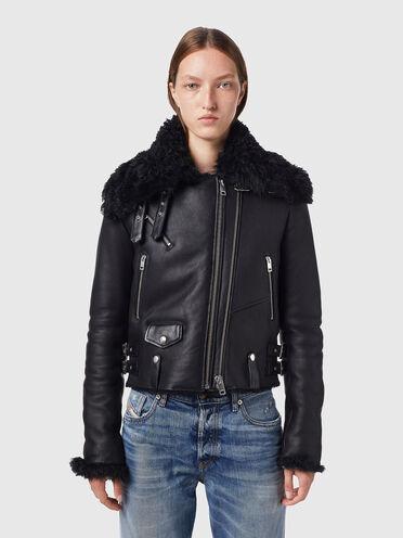 Biker jacket in shearling