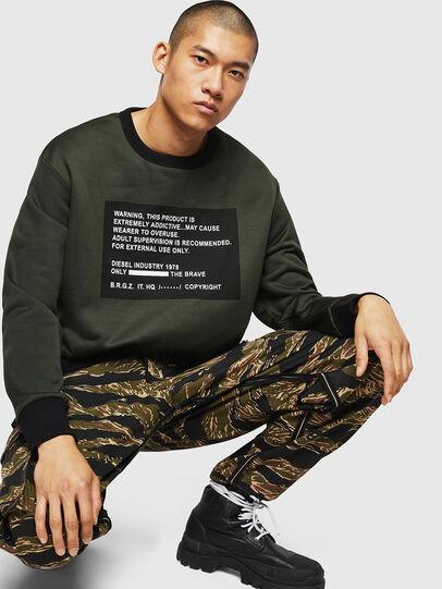 Diesel - S-BAY-MESH, Dark Green - Sweaters - Image 4