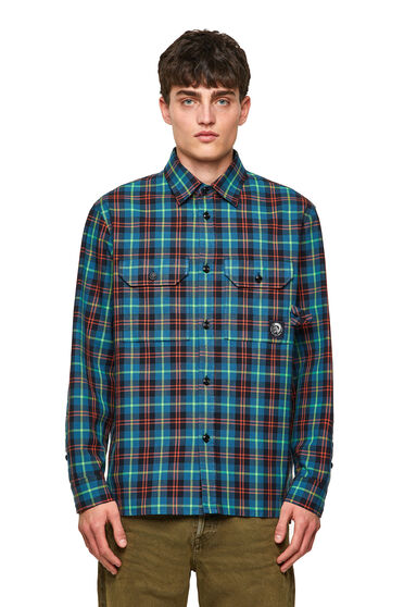 Green Label shirt in check Oxford