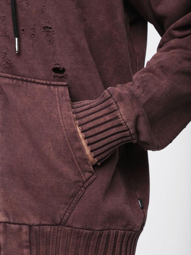 Diesel - S-STAPP, Burgundy - Sweaters - Image 3