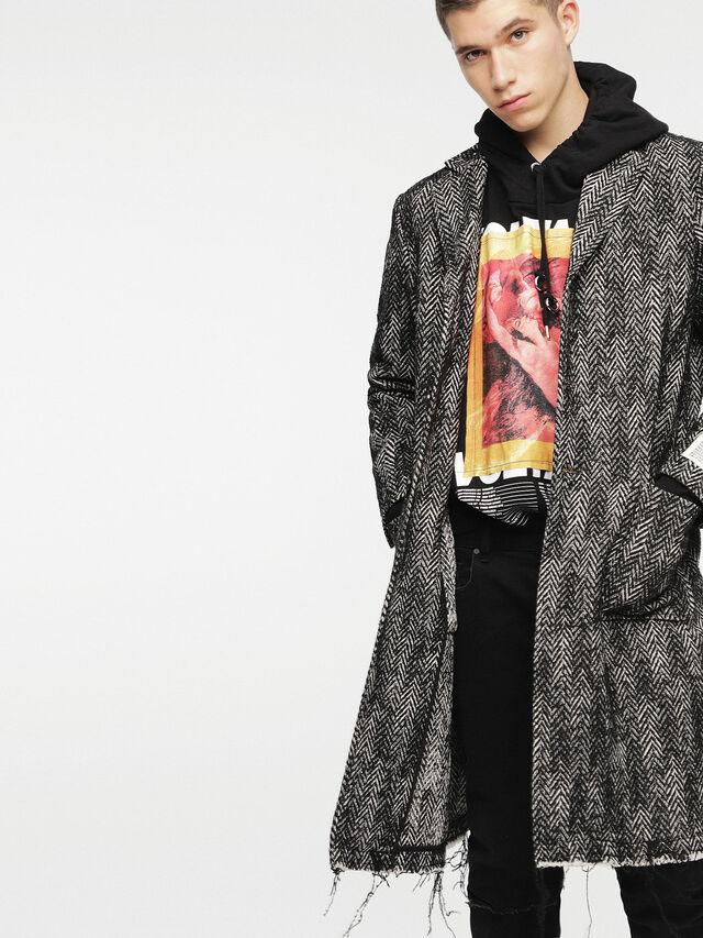 Diesel - W-DEXT, Black Melange - Winter Jackets - Image 6