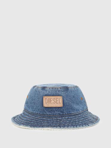Teddy-lined denim bucket hat
