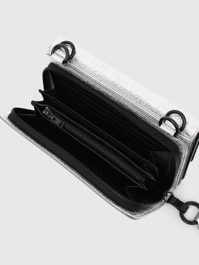 Diesel - DUPLET LC, Silver - Zip-Round Wallets - Image 4