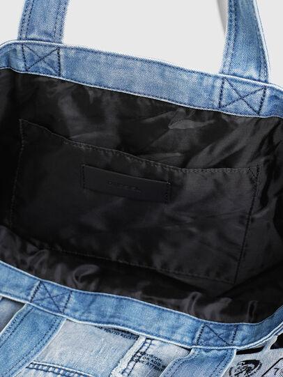 Diesel - D-THISBAG SHOPPER L, Light Blue - Shopping and Shoulder Bags - Image 5