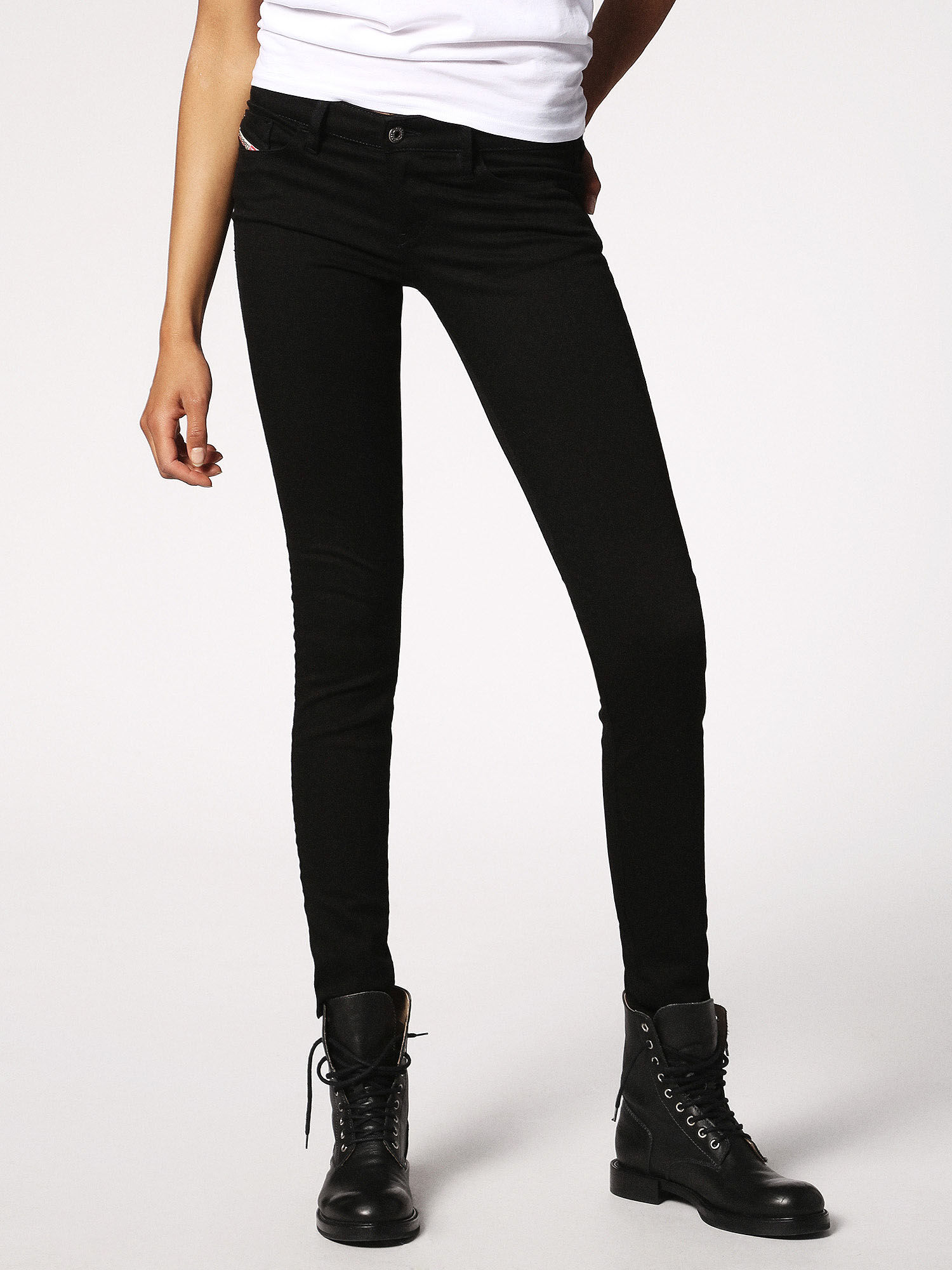 Skinzee-Low 0687G jeans - Black Diesel Quality From China Wholesale QTMk6Sn
