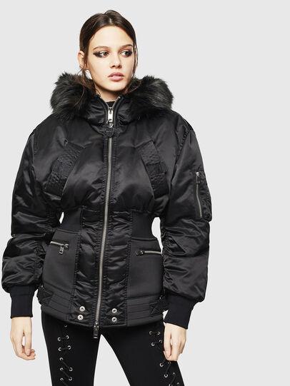 Diesel - W-ISOKE-A, Black - Winter Jackets - Image 1