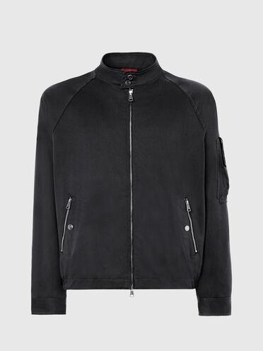 Short jacket in cotton twill