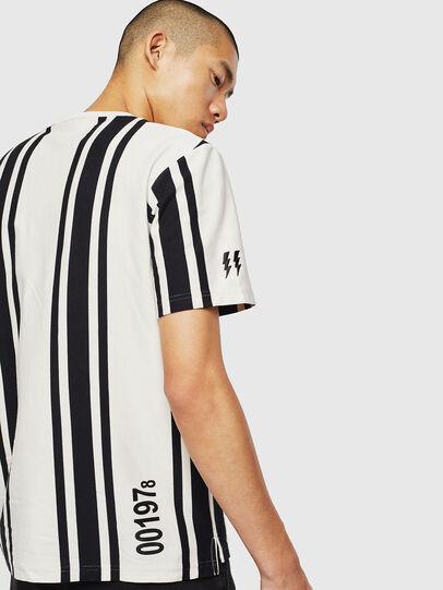 Diesel - T-STRIP-J1, White/Black - T-Shirts - Image 4