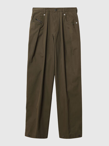 Wide-leg pants in gabardine