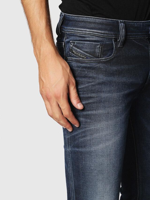 Diesel - Sleenker 084JM, Dark Blue - Jeans - Image 3