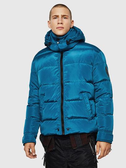 Diesel - W-SMITH-YA, Blue Marine - Winter Jackets - Image 1